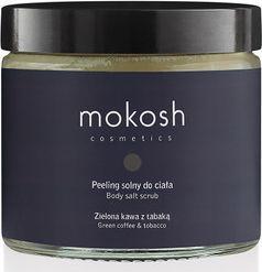 Mokosh Peeling solny do ciała Zielona kawa z tabaką 300g