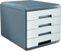 VeroTech organizer 4 szuflady szaro-biały (VD-111)