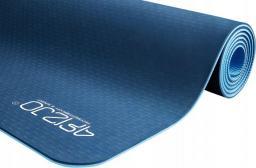 4fizjo Mata do ćwiczeń, jogi i fitnessu TPE 6mm (niebieska)