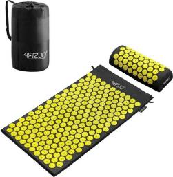 4fizjo Mata do akupresury z kolcami + poduszka (żółta)