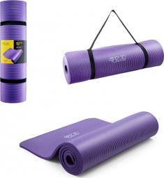 4fizjo  Mata do ćwiczeń, jogi i fitnessu NBR 1CM (fioletowa)
