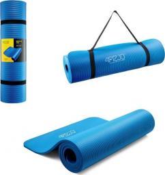 4fizjo  Mata do ćwiczeń, jogi i fitnessu NBR 1CM (niebieska)