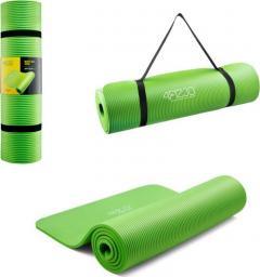 4fizjo  Mata do ćwiczeń, jogi i fitnessu NBR 1CM (zielona)