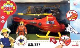 Simba Strażak Sam Helikopter ratowniczy czerwony