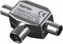 Adapter AV Hama Rozgałęźnik gniazdo antenowe - 2xwtyk antenowy (990429980000)