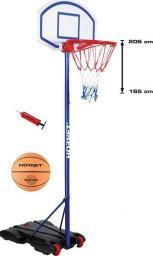 Hudora Regulowany kosz do koszykówki Hornet 205 + piłka i pompka