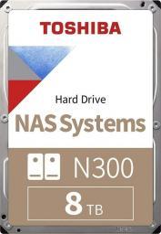 Dysk serwerowy Toshiba N300 8 TB 3.5'' SATA III (6 Gb/s)  (HDWG180EZSTA)