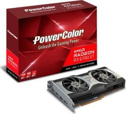 Karta graficzna Power Color Radeon RX 6700 XT 12GB GDDR6 (AXRX 6700XT 12GBD6-M3DH)