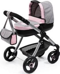 Bayer Wózek głęboki dla lalki Style szaro-różowy (12633AA)