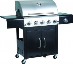 Landmann Grill ogrodowy gazowy XXL Trendy US 5.1 Grill Chef ruszt żeliwny 70x44 cm (12276)
