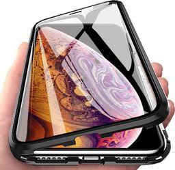 Wozinsky Wozinsky Full Magnetic Case magnetyczne etui 360 pokrowiec na przód i tył + szkło iPhone 8 Plus / 7 Plus czarno-przezroczysty uniwersalny