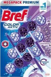 BREF Bref Color Aktiv Do Wc Barwiący 3x50g Lawendowy