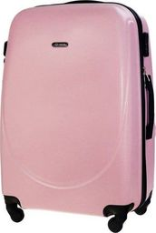 Solier Duża walizka podróżna STL856 różowa