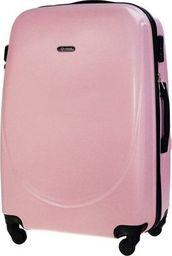 Solier Średnia walizka podróżna STL856 różowa