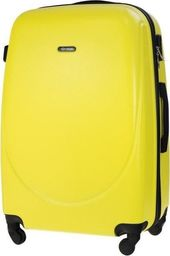 Solier Duża walizka podróżna STL856 żółta