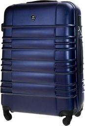Solier Średnia walizka podróżna STL838 granatowa