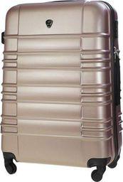 Solier Mała walizka kabinowa ABS 55x37x24cm STL838 rose gold