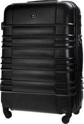 Solier Mała walizka kabinowa ABS 55x37x24cm STL838 czarna
