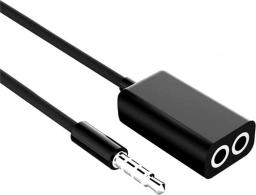 Kabel Mozos MiniJack 3.5 mm x2 MiniJack 3.5 mm, Czarny (SK-1)