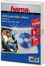 Hama  Pudełka na płyty DVD Slim Box 5szt Białe (838970000)