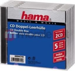 Hama Pudełka na płyty CD-BOX 5 szt. podwójne (447450000)