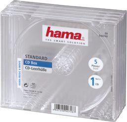 Hama Pudełka na płyty CD-BOX 5 szt. ( 447480000 )