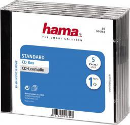 Hama Pudełka na płyty CD Standard 5szt (447440000)