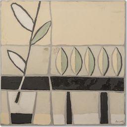 Feeby Obraz na płótnie - Canvas, Okno z roślinami 20x20