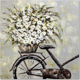 Feeby Obraz na płótnie - Canvas, Kwiaty na rowerze 20x20