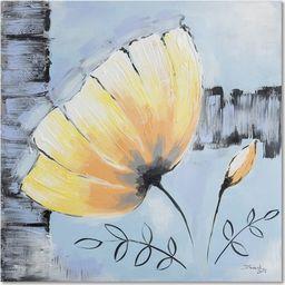 Feeby Obraz na płótnie - Canvas, Żółty kwiat 3 20x20