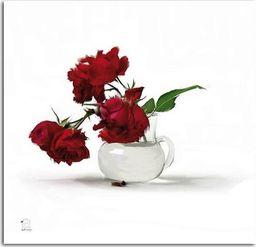 Feeby Obraz na płótnie - Canvas, Czerwone róże w wazonie 20x20
