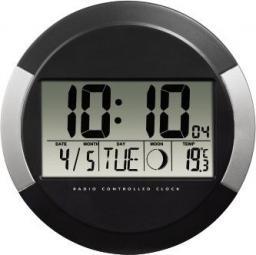 Zegar Hama  Elektroniczny ścienny DCF PP-245 Czarny (1049360000)