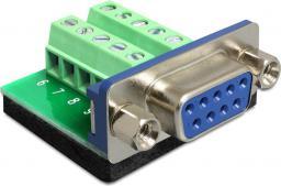 Adapter AV Delock Sub-D 9 pin female > Terminal block 10 pin