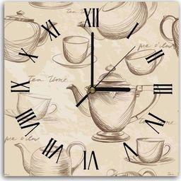 Feeby Obraz z zegarem, tea time 30x30