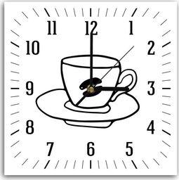 Feeby Obraz z zegarem, kawa 2 30x30