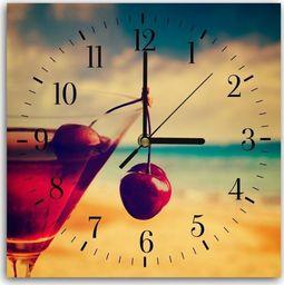 Feeby Obraz z zegarem, drink wiśniowy 30x30