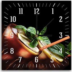 Feeby Obraz z zegarem, cuba libre koktajl 30x30