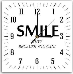 Feeby Obraz z zegarem, smile 2 30x30