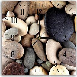 Feeby Obraz z zegarem, kamienna kompozycja 30x30