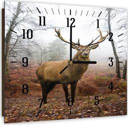 Feeby Obraz z zegarem, jeleń 5 30x30