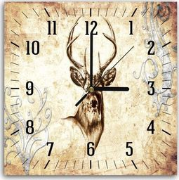 Feeby Obraz z zegarem, jeleń 4 30x30
