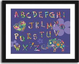 Feeby Obraz w ramie czarnej, Alfabet ze słoniem 29,7x21