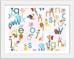 Feeby Obraz w ramie białej, Alfabet zwierzaki 29,7x21