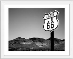 Feeby Obraz w ramie białej, Arizona US 66 29,7x21