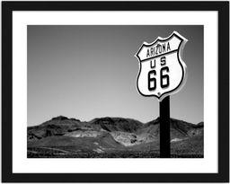 Feeby Obraz w ramie czarnej, Arizona US 66 29,7x21