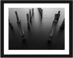 Feeby Obraz w ramie czarnej, Betonowe falochrony 2 29,7x21