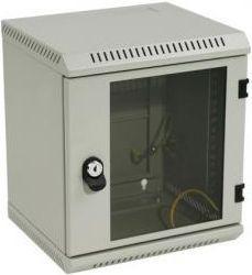 """Szafa TriTon Delta 10"""" (6U, 300mm głębokośc, przeszklone drzwi, kolor jasnoszary RAL7035)"""