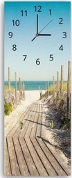 Feeby Wieszak ozdobny z zegarem, droga na plażę 3 25x65