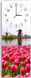 Feeby Wieszak ozdobny z zegarem, holenderski krajobraz 30x90