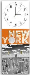 Feeby Wieszak ozdobny z zegarem, New York 2 25x65